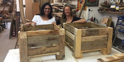 Pallet Upcycling - Make a Garden Planter to take away!