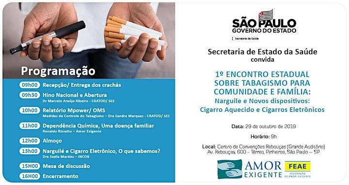 Imagem do evento 1º ENCONTRO ESTADUAL SOBRE TABAGISMO PARA COMUNIDADE E FAMÍLIA