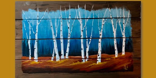 Fall Birch Wood Pallet or Canvas
