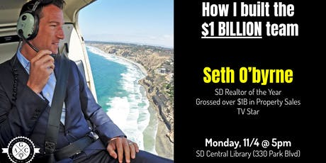 Seth O'byrne - How I went from small-time agent to closing over $1 billion! tickets