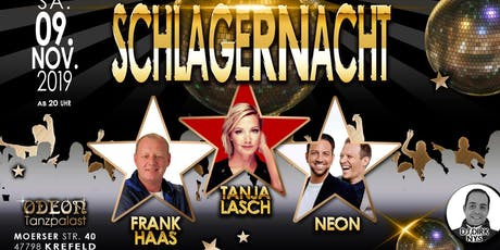 Schlagernacht 09.11.2019 Tanzpalast Odeon Tickets
