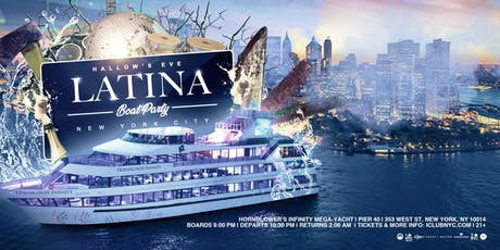 #1 LATIN HALLOWEEN BOAT PARTY CRUISE  NEW YORK CITY VIEWS  OF STATUE OF LIBERTY tickets