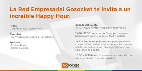 Gosocket te invita a un Happy Hour entradas
