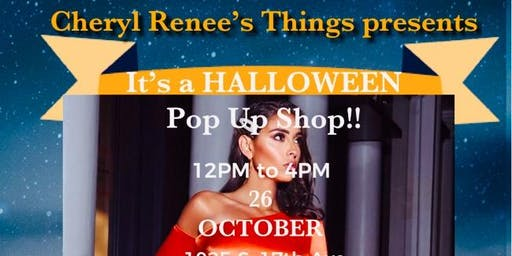It's a Halloween Pop Up Shop Event!!