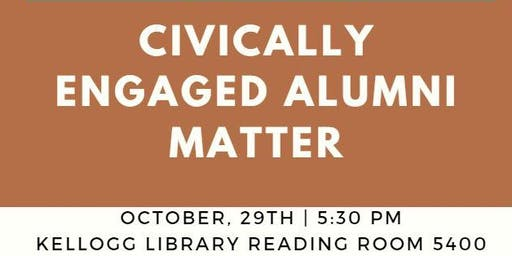 Conversations That Matter: Civically Engaged Alumni Matter