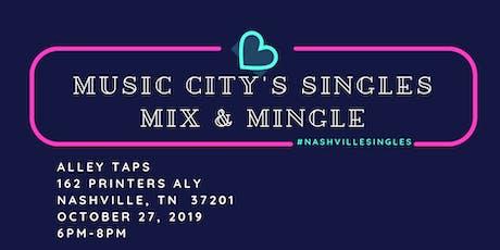 Music City's  Singles  Mix & Mingle tickets