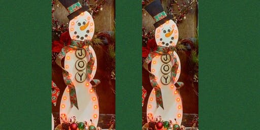 "30"" Tall Wooden Snowman Craft and Paint Night-Russo's Pub"
