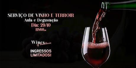 Aula e Degustação - Serviço de Vinho e Terroir ingressos