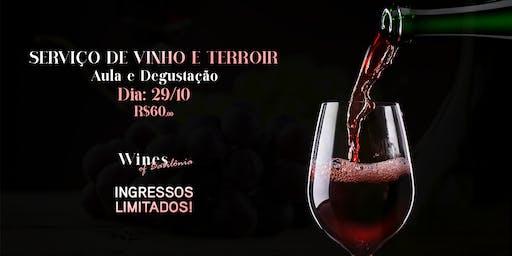 Aula e Degustação - Serviço de Vinho e Terroir