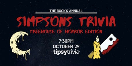 Simpsons Trivia - Treehouse of Horror Edition - Oct 29, 7:30pm - The Buck tickets