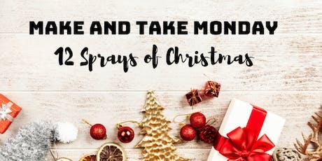 Make and Take Monday: 12 Sprays of Christmas tickets