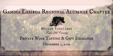 Gamma Lambda Private Wine Tasting and Gift Exchange tickets