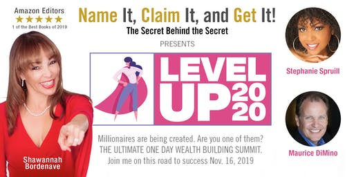 LEVEL UP 2020 with Author and Entrepreneur Shawannah Bordenave