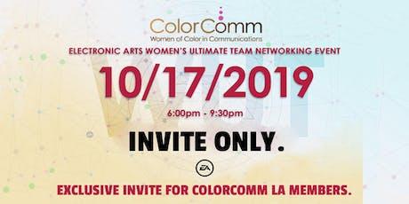 ColorComm LA + EA - Women's Ultimate Team Networking Event tickets