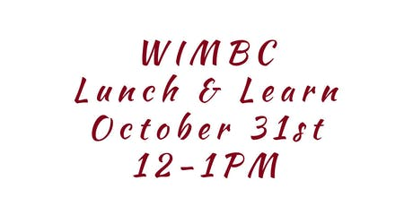 WIMBC's October 2019 Lunch & Learn tickets