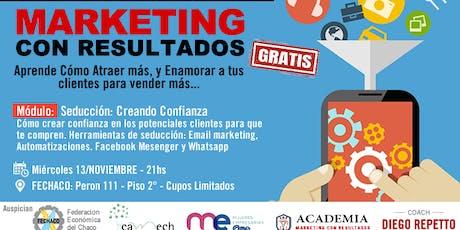 Curso Marketing con Resultados -  Creando Confianza para Vender más entradas