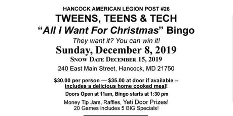 Tweens, Teens and Tech, All I Want For Christmas Bingo tickets