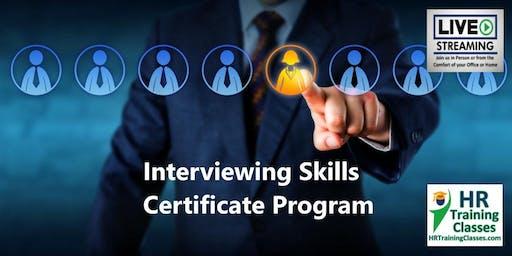 Interviewing Skills Certificate Program (Starts 1/28/2020)