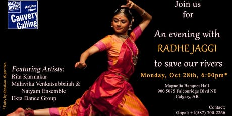 An evening with Radhe in Calgary to save Cauvery river tickets