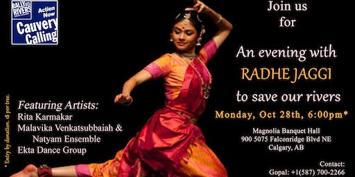 An evening with Radhe in Calgary to save Cauvery river
