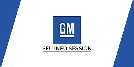 SFU General Motors Info Session tickets