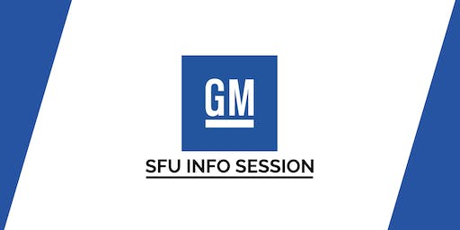 SFU General Motors Software Engineer Info Session