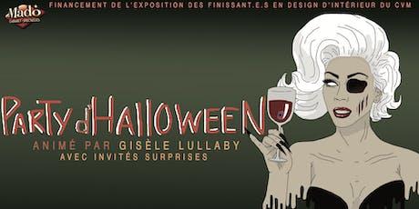 Party D'Halloween-Financement pour les finissants en design d'intérieur du CVM billets