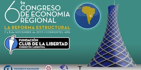 SEXTO CONGRESO DE ECONOMÍA REGIONAL DEL CLUB DE LA LIBERTAD entradas