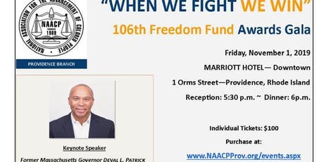 NAACP Providence 106th Freedom Fund Gala tickets