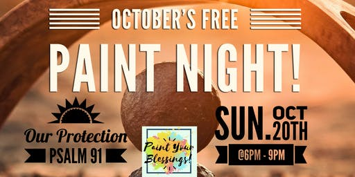 October's FREE Paint Night- Paint Your Blessings