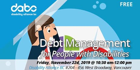 Debt Management  for People with Disabilities  tickets
