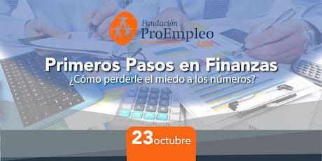 Primeros pasos en Finanzas ¿Cómo perderle el miedo a los números? boletos