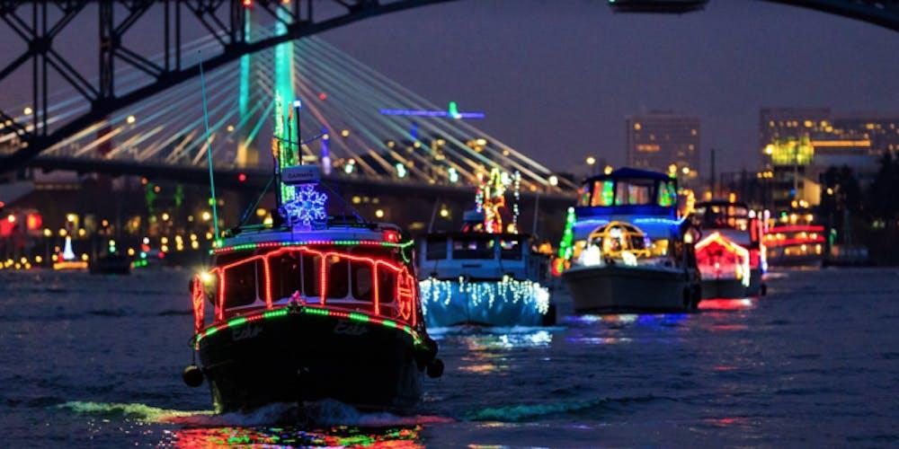 Christmas Boats Portland 2019.Christmas Ships Parade Cruise