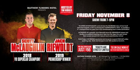 Balls N Bumpers ft Scott McGlaughlan and Jack Riewoldt LIVE! tickets