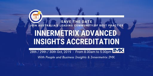 Expand your expertise - Accreditation Workshops - 3 days 28,29,30 Oct 2019