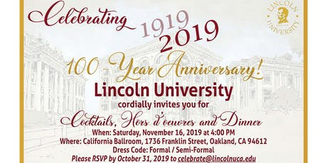 Lincoln University 100 year Celebration tickets