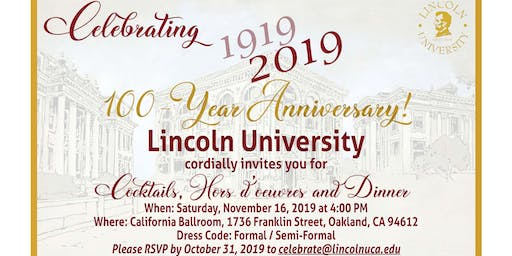 Lincoln University 100 year Celebration