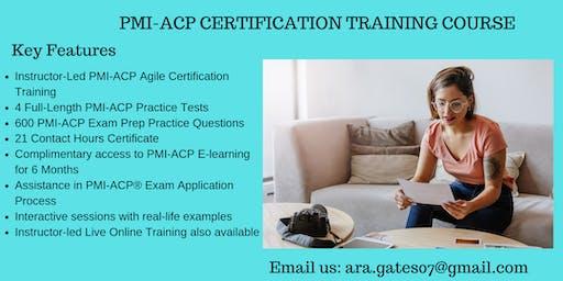 PMI-ACP Exam Prep Course in Montpelier, VT