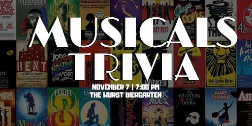 Musicals Trivia Night at The Wurst Biergarten