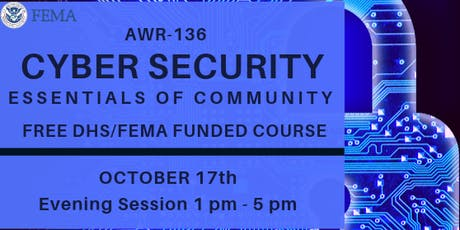 ESSENTIALS OF COMMUNITY CYBERSECURITY  tickets