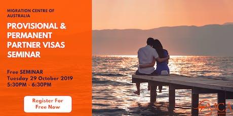 [Free Seminar] Provisional & Permanent Partner Visa Seminar tickets