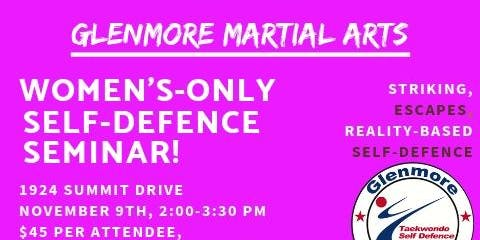 Women's Only Self Defense Seminar