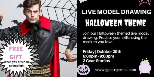 Halloween Live  Model Drawing
