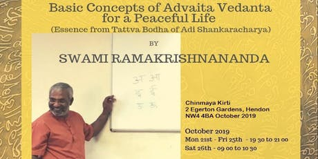 Living a Blissful life by applying Vedanta concepts tickets
