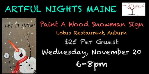 Paint a Wood Snowman Sign at Lotus Restaurant