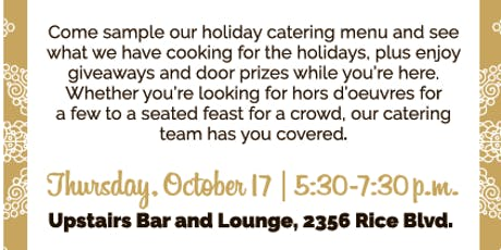 Holiday Catering Menu Tasting at Hungry's tickets