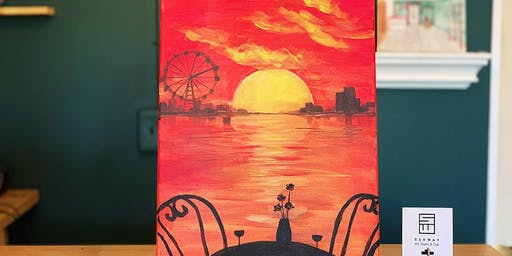 THINGS TO DO -PAINT & SIP: FIERY SUNSET