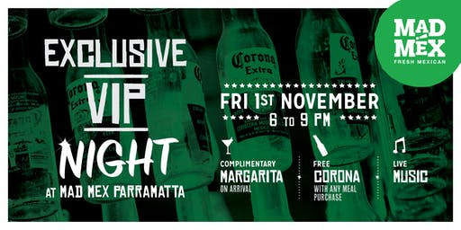 Mad Mex Parramatta VIP Night