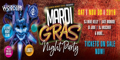 The Sunken Monkey Presents LGBTI Mardi Gras Night Party at Woodies