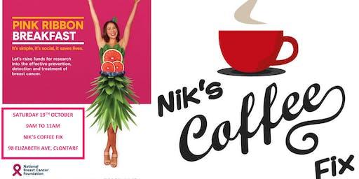 Nik's Coffee Fix Pink Ribbon Breakfast